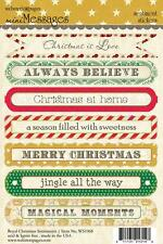 Webster's pages ROYAL CHRISTMAS Mini Messages SENTIMENT stickers - 7 piece