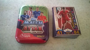 Match Attax 2016/17 Tin + 50 cards + Limited Edition Philippe Coutinho Bronze