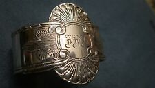 Jacob Tostrup Norwegian Norway Sterling 830S Silver Napkin Ring DRONNINGMØNSTER