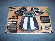 """1969 Chevy Camaro Article """"Black Magic"""" Z/28 RS COPO RS & RS/SS L78 Convertible"""
