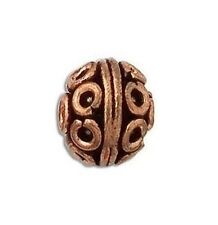 COPPER  OXIDIZED 14MM BALI STYLE  BEADS  5 PCS. SOLID COPPER BBCP110A