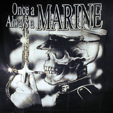 ONCE A MARINE CLOTH  WALL BANNER WH824 flag miliatary