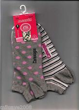 2 Pares de calcetines socks cortos Carlomagno fantasía gris algodón T.36-40
