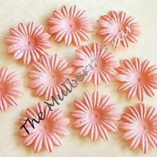 "20 1"" Peach MULBERRY PAPER DAISY FLOWERS for Cards"