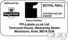 2500 x Royal Mail PPI Labels & Return Address, PPI-02-24 (24s)(1st or 2nd Class)