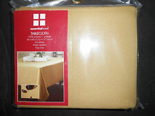 Essential Home Christmas gold tablecloth 60x84 NIP water repellent