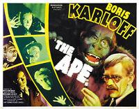 The Ape (1940) Boris Karloff Horror movie poster print 4