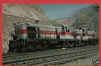 UTAH RAILWAY COMPANY LOCOMOTIVES 301 & 304 POSTCARD