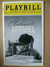 2004 PlayBill Roundabout at Laura Pels Theatre: INTIMATE APPAREL, Vol.120, no.5
