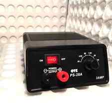 PS-28A DC POWER SUPPLY 3-12 Volt 2AMP  SPECIAL!!!!!!!!!!!!!!!!!!!!!!!