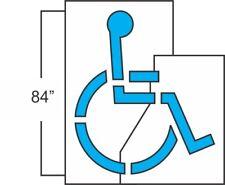 """Walmart 84 In Handicap 2pc Stencil 1/8th Ldpe Symbol Is 84� High 78� Wide 6 """"Bar"""