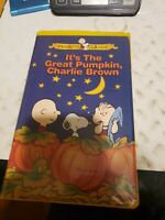 IT'S THE GREAT PUMPKIN Charlie Brown Peanut VHS 1996 Clamshell 1966 HALLOWEEN