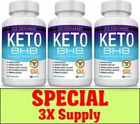 Keto Diet Pills BHB Advanced Ketosis Weight Loss To Burn Fat Fast 3X Supplys