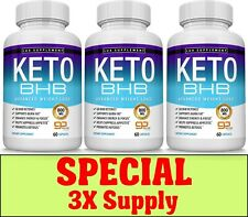 Keto Diet Pills BHB Advanced Ketosis Weight Loss To Burn Fat Fast 3 X Supplys