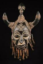 12559 An Old African Chokwe King Mask Dr Congo