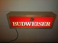 "Vintage 1976 Budweiser Lighted Sign (19"" x 6 3/4"" x 4 1/2"")"