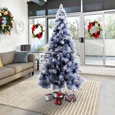 HOMCOM Christmas Snow Tree 210 cm Pine Look and Metal Stand 499 Tips