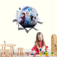 Frozen 3D Torn Hole Wall Sticker Decal DIY Mural Anna Elsa Olaf Disney 2 WC304