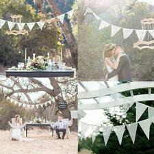 3.2m White Lace Banner Bunting 11 Flags Party Birthday Wedding Hanging Decor Set