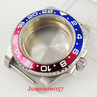 40mm 316L Stainless Steel Watch Case Sapphire Glass fit ETA 2836 MIYOTA Movement