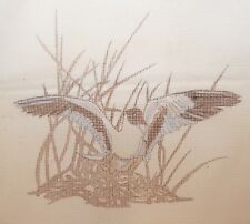 Duck in Grass Vintage Wicker Imports Needlepoint Canvas  10 count