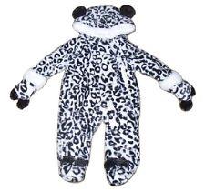 BABY Ragazzi Ragazze Unisex Tutina Leopardo Stile Con Cappuccio 6-9 mesi