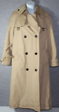 Womens ETIENNE AIGNER TAN BROWN Leather Trim BUTTON UP TRENCHCOAT Size 8