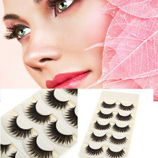 5Pairs Natural Long Black Eye Lashes Makeup Handmade Thick Fake False Eyelashes.