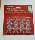 Vintage Noma Clear Star Mini Light Covers Caps Reflectors ~ Christmas ~ NOS