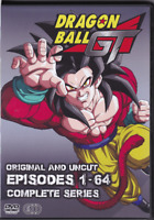 Dragon Ball GT Episodes 1-64 Complete Anime Series on 6 DVDs