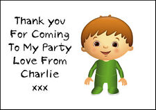 Personalised Kids Charlie And His Numbers Stickers Birthday Thank You Pk  24