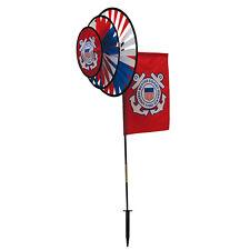 New listing U.S. Coast Guard Flag Dual Spinner Wheels with Garden Flag 2881