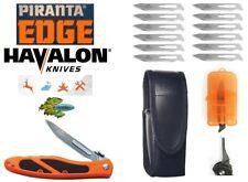 Havalon Knife Piranta Edge Folding (XTC-60AEDGE) +FREE Blades -Remover -Sheath