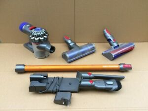 DYSON V8 ABSOLUTE HANDHELD WITH TWO HEADS, WALL MOUNT & CHARGER   - WORKING