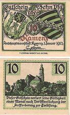 Germany 10 Pfennig 1920 Notgeld Kamen UNC Uncirculated Banknote