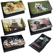 More details for personalised tobacco pouch dog rolling baccy wallet smoking gift puppy pet