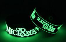 OF MICE & MEN SLEEPING WITH SIRENS M8S8 2x Bracelet Wristband Glow in the Dark