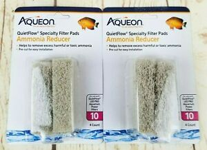Lot of 2 Aqueon Ammonia Reducer 4 ct. QuietFlow LED Pro 10 Specialty Filter Pads