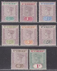 St Vincent 1899 Queen Victoria Set to 1sh Mint SG67-74