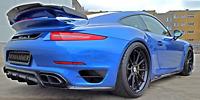 Porsche 991Turbo S Heck Diffusor Rear Diffuser MOSHAMMER® 911 991 Turbo