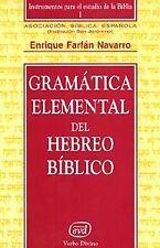 Gramatica elemental hebreo biblico. NUEVO. Envío URGENTE. RELIGION (IMOSVER)