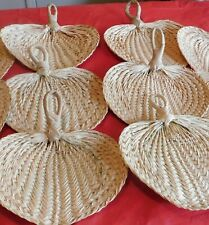 6 Raffia Fans - Great For Weddings *Read Ad For Details*