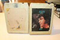 Lot 2 Elvis 8 TRACK TAPE Greatest Hits Legendary Performer Vol 2 RCA Tested