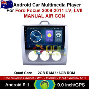 """9"""" Android 10.0 Quad Core Car Non DVD GPS For Ford Focus 2008-2011 LV, LVII"""