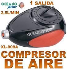 COMPRESOR 2,5L/H 2,5W BOMBA AIRE Oxigenador AIREADOR de OXIGENO ACUARIO Pecera