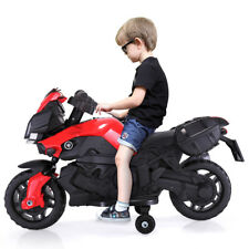 Kids Ride On Motorcycle Battery Powered 5 Wheel Bicycle Electric Toy New Red