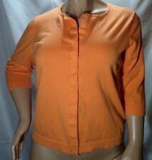 Jones New York~Cardigan Sweater~Orange~3/4 Sleeves~Snap Buttons~Women Plus Sz 1X