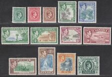 Jamaica 1938-52 King George VI Part Set to 10sh Mint