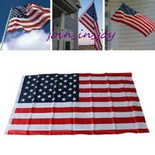 90*150cm American Flag USA United States Sewn Stripes Embroidered Stars Brass JJ