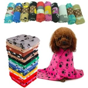 Soft Cosy Warm Fleece Pet Dog Cat Blanket 60 x 70cm